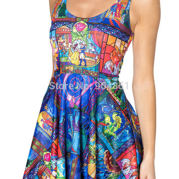 Casual Dress Tale As Old As Time Reversible Skater Dress