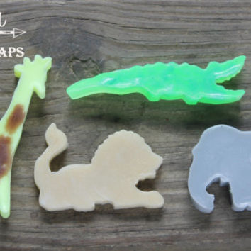 animal soap, animal party favors, animal party gift, novelty soap, farm animals, elephant decor, alligator gift, boys soap, boys gift, lion