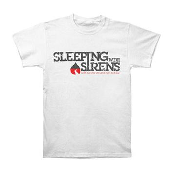 Sleeping With Sirens Men's  Logo W/ Album Name T-shirt White Rockabilia