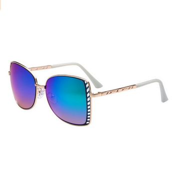 Women's Big Lens Designer Polarized Aviator Sunglasses