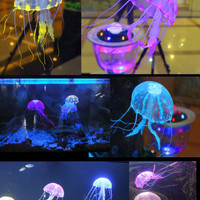 "UE27 5.5"" Glowing Effect Artificial Jellyfish Fish Tank Aquarium Decoration"