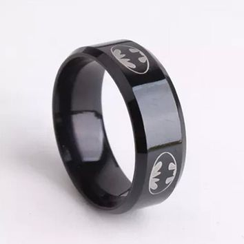 6mm Black Punk Rings Wedding Ring Stainless Steel Rings For Men Women Fashion Party Gift Unique Design Best Friend Gift Jewelry