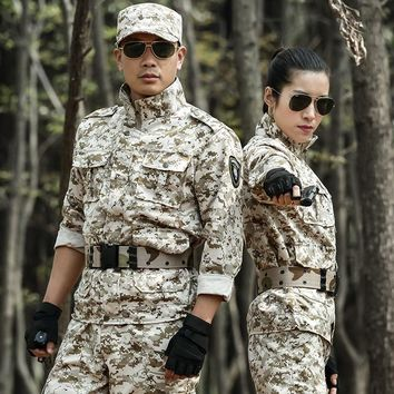 Autumn Outdoor Military Clothing Tactical Camouflage Uniform Special Forces Camping Hunting Clothes Uniforms Camuflagem Militar