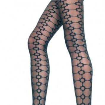 Tights Square Design Pantyhose