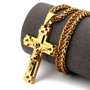Jewelry Shiny Stylish New Arrival Gift Cross Rack Hip-hop Accessory Necklace [10529027715]