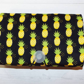 pineapples COUPON  Organizer - Holder - Keeper - gift for her photos recipes note cards gift cards under 20