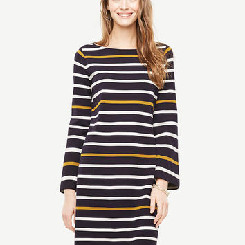 Striped Knit Shift Dress | Ann Taylor
