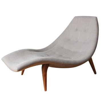Mid-Century Modern Chaise Lounge in the style of Adrian Pearsall