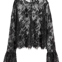 Lace blouse - Black - Ladies | H&M GB