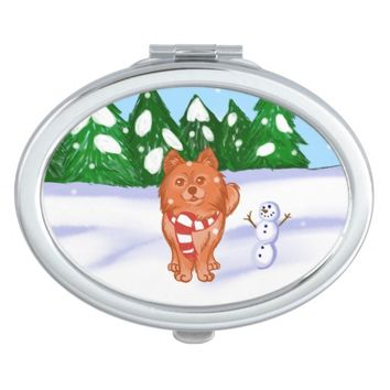 Snow Puppy Compact Mirror