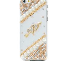 For iPhone 6/6s Rhinestone Case New Diamond Gorgeous  Protective Shell Bling Hard PC Back Cover For iPhone 6 4.7""
