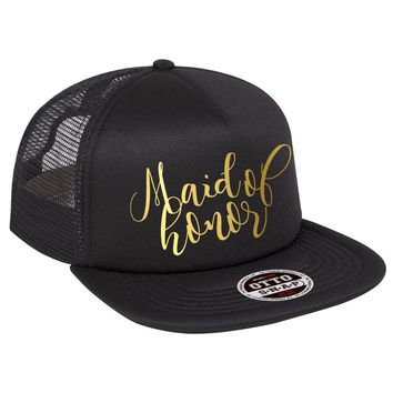 Maid of Honor Script Trucker Hat