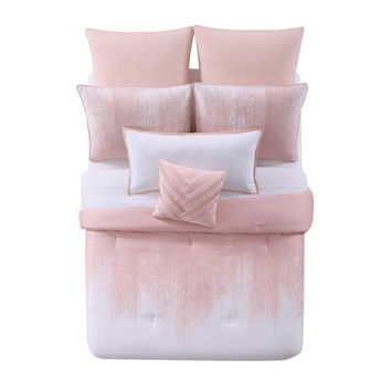Lyon Blush Cotton Comforter Set