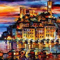"CANNES - FRANCE  —  Oil Painting On Canvas By Leonid Afremov Size: 48""x36"""