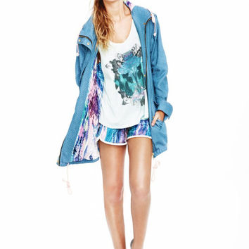 Whitney Eve Chambray Cargo Jacket
