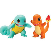 Pokémon 2 Pack Small Figures, Squirtle And Charmander