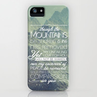 Isaiah 54:10 Not be Shaken  iPhone Case by Pocket Fuel