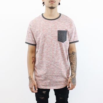 Levi Ringer Tee (Light Red)