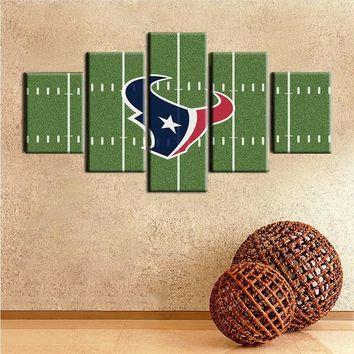2016 Fashion Wall Art Printed Sports Painting On Canvas Room Decoration Poster Picture Canvas Unframed Modern houston texans