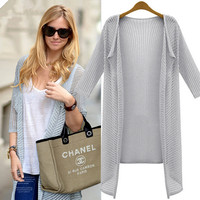 FASHION BAT SLEEVE KNIT CARDIGAN