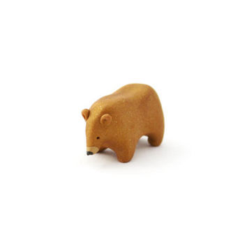 golden bear polymer clay bear totem gold bear figurine miniature