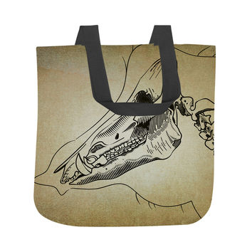 Boar Skeleton  Tote Bag