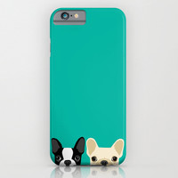 Boston Terrier and French Bulldog iphone case