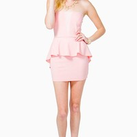 Spring Glimmer Peplum Dress