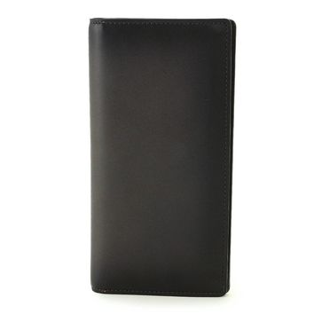 Auth LOUIS VUITTON Ombre leather Brazza Long Wallet Anthracite M41899 90021287