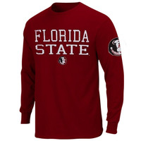 Majestic Florida State Seminoles :FSU: Dangled Long Sleeve T-Shirt - Garnet