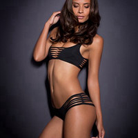 Sexy hollow out pure color bikini N1153484
