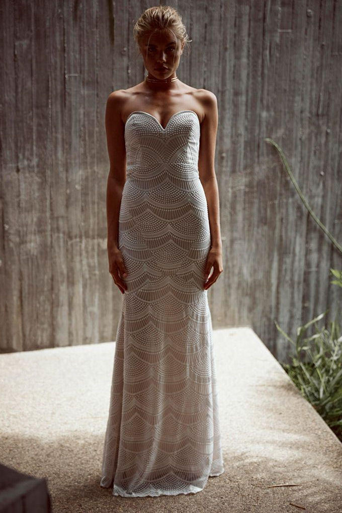 Stone Cold Fox || Market gown in white from Soleil Blue | Mindas