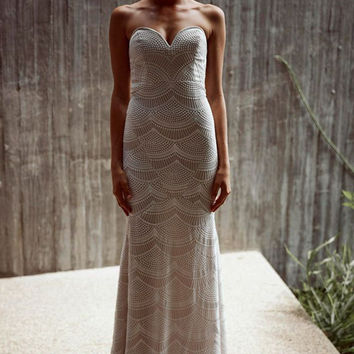 Stone Cold Fox || Market gown in white