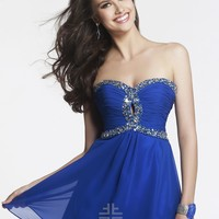 Faviana 7431 - Royal Strapless Beaded Chiffon Prom Dresses Online