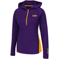 LSU Tigers Ladies Studio II Half Zip Slim Fit Jacket - Purple