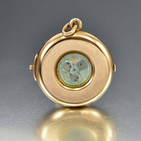 Antique 14K Gold Locket w Working Mechanical Dice