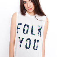 Petals and Peacocks Folk You Tank : Karmaloop.com - Global Concrete Culture