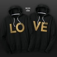 LOVE BEST FRIEND TWO MATCHING HOODIE SWEATSHIRT SHIRT S-XL