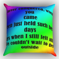 blink song lyric X0935 Zippered Pillows  Covers 16x16, 18x18, 20x20 Inches