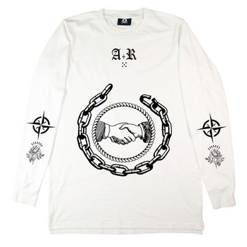 WHITE UNITY LONG SLEEVE