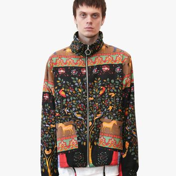 Indian Flower Tapestry Lightweight Jacket