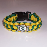 Green Bay Packers Survival  Bracelet Custom Made 550 Paracord