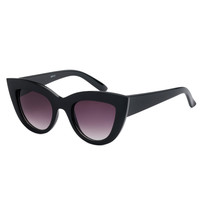 Glam Cat Eye Sunglasses Black
