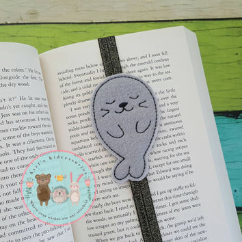 Bookmark - Seal Elastic Bookmark - Seal Bookmark - Planner Band