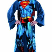 Superman Comfy Throw - DC Comics Fleece Blanket Sleeves