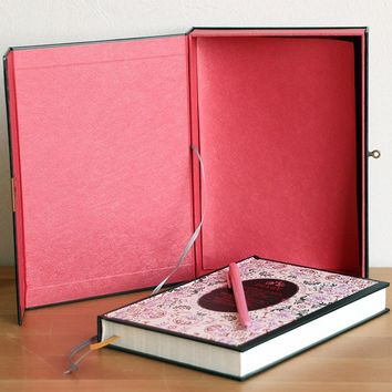 Floral Secret Life Boxed Diary Journal Book With A Lock Hardcover Case Box Outside Big Size Notebook Super Volume 200page Book