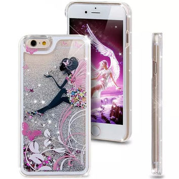 Liquid Glitter Phone Case for Iphone 5 5S (Fairy Girl)