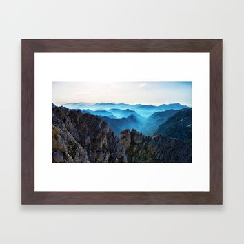 Mountains Breathe Too Framed Art Print by Mixed Imagery