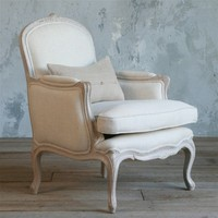 Eloquence La Belle Bergere Chair Gustavian Grey