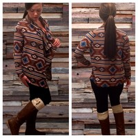 Aztec Print Draped Cardigan from Something Cute Boutique